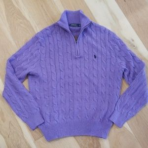 Polo Raulph Lauren cable  sweater in periwinkle